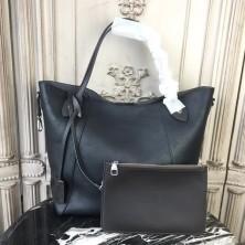 Louis Vuitton M54354 Hina MM Mahina Leather Noir
