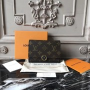 Louis Vuitton M64587 Flore Compact Wallet Monogram Canvas Noir