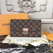 Louis Vuitton N61273 Croisette Wallet Damier Ebene Canvas