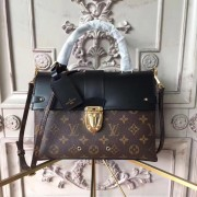 Louis Vuitton M43125 One Handle Flap Bag MM Monogram