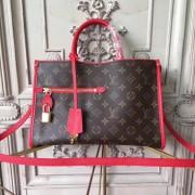 Louis Vuitton M43433 Popincourt PM Monogram Red