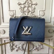 Louis Vuitton M53090 Twist MM Epi Leather Navy