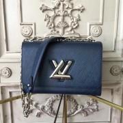 Louis Vuitton M53090 Twist MM Epi Leather Navy