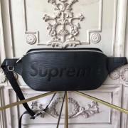 Louis Vuitton x Supreme Bumbag Epi Black M53418