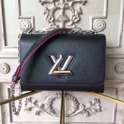 Louis Vuitton M54713 Twist MM Epi Leather Noir Hot Pink