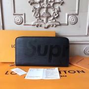 Louis Vuitton x Supreme Zippy Organizer Epi Black M60305