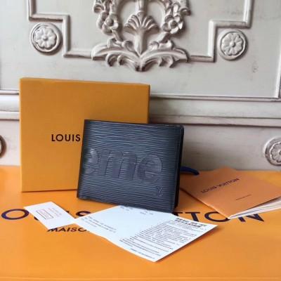 Louis Vuitton x Supreme Slender Wallet Epi Black M60332