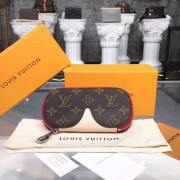 Louis Vuitton GI0196 Glasses Cases Emilie Monogram Canvas Red