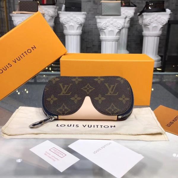 9c863ff37c84 Louis Vuitton GI0197 Glasses Cases Emilie Monogram Canvas Navy