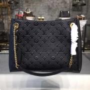 Louis Vuitton M43758 Surene MM Monogram Empreinte Leather Noir