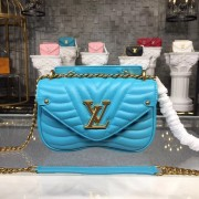 Louis Vuitton M51936 New Wave Chain Bag PM LV New Wave Leather