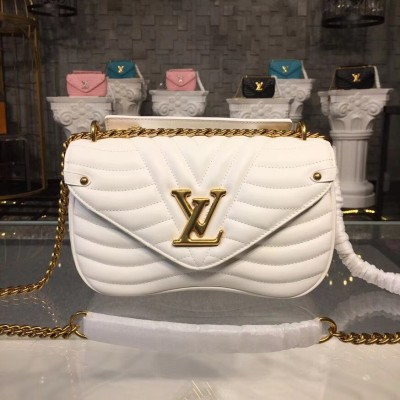 Louis Vuitton M51945 New Wave Chain Bag MM LV New Wave Leather