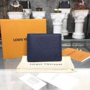 Louis Vuitton M64006 Designer Slender Wallet in Taiga Leather Océan