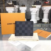 Louis Vuitton N64002 Designer Slender Wallet in Damier Graphite Canvas