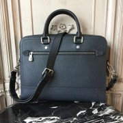 Louis Vuitton M51591 Canyon Biefriefcase Utah Leather Bleu marine