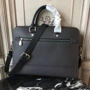 Louis Vuitton M51591 Canyon Biefriefcase Utah Leather Black