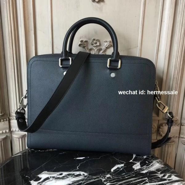 fd92aeb843d1 Louis Vuitton M51591 Canyon Biefriefcase Utah Leather Bleu marine