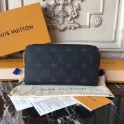 Louis Vuitton M60017 Zippy Wallet Monogram Eclipse Canvas