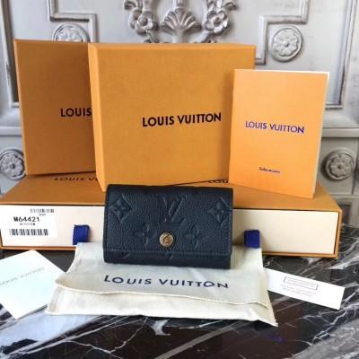 Louis Vuitton M64421 6 KEY HOLDER Monogram Empreinte Leather Noir