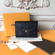 Louis Vuitton M64060 Victorine Wallet Monogram Empreinte Leather Noir