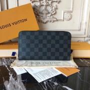 Louis Vuitton N63077 Zippy Organizer Damier Graphite Canvas