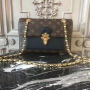 Louis Vuitton M41730 Victoire Monogram Canvas and Leather Handbag Noir