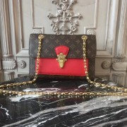 Louis Vuitton M41731 Victoire Monogram Canvas and Leather Handbag Cherry