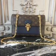 Louis Vuitton M44038 Victoire Monogram Canvas and Leather Handbag Bleu Marine