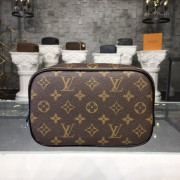 Louis Vuitton M47507 Toilet Pouch PM Monogram Macassar Canvas