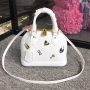 Louis Vuitton M52885 Alma BB Epi Leather White
