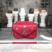 Louis Vuitton M53213 New Wave Chain Bag PM handbag LV New Wave Leather Scarlet Red