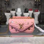 Louis Vuitton M53214 New Wave Chain Bag MM handbag LV New Wave Leather Rose