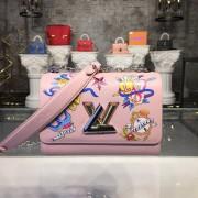 Louis Vuitton M53561 TWIST MM Epi Leather Rose Ballerine