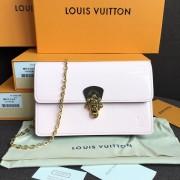 Louis Vuitton M63306 Cherrywood Chain Wallet Patent Leather Rose Ballerine