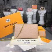 Louis Vuitton M63919 POCHETTE DOUBLE ZIP Monogram Empreinte Leather Beige Doré