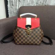 Louis Vuitton N40104 Clapton Backpack Damier Ebene Canvas Scarlet