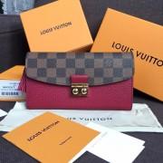Louis Vuitton N60207 Croisette Wallet Damier Ebene Canvas Lie De Vin