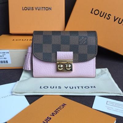 Louis Vuitton N60208 Croisette Compact Wallet Damier Ebene Canvas Magnolia