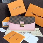 Louis Vuitton N60215 Croisette Wallet Damier Ebene Canvas Magnolia