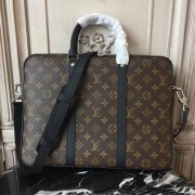 Louis Vuitton M52005 Porte-Documents Voyage PM Monogram Macassar Canvas