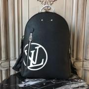 Louis Vuitton M53439 Armand Backpack Taurillon Leather Initials Noir