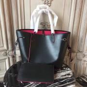 Louis Vuitton M54185 Neverfull MM Epi Leather Noir Rose