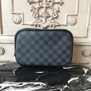 Louis Vuitton N47522 Toilet Pouch PM Damier Graphite Canvas