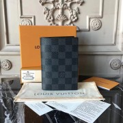 Louis Vuitton N64411 Passport Cover Damier Graphite Canvas