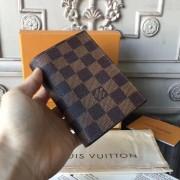 Louis Vuitton N64412 Passport Cover Damier Ebene Canvas