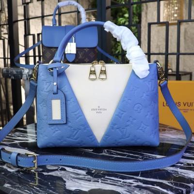 Louis Vuitton M44419 V Tote BB Monogram Empreinte Leather Bleu Jean