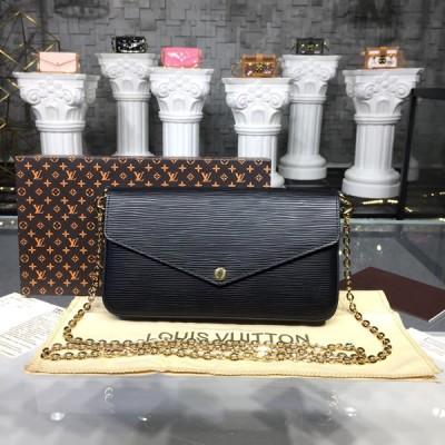 Louis Vuitton M62648 Pochette Félicie Epi Leather Black