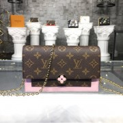Louis Vuitton M67405 FLORE CHAIN WALLET Monogram Canvas Magnolia