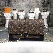Louis Vuitton M67405-2 FLORE CHAIN WALLET Monogram Canvas