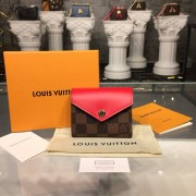 Louis Vuitton N60166 Zoé WALLET Damier Ebene Canvas Coquelicot